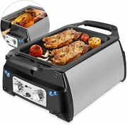 Flexzion Smoke-less Infrared Grill Indoor Electric Table Top Bbq Grill Barbeque