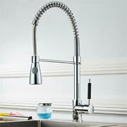 Chrome Kitchen Faucet Swivel Single Handle Sink Pull Down Sprayer Mixer New