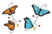 3d Metal Monarch Butterfly Exquisite Home Window Yard Decoration Crafts Decor