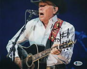 George Strait Signed Autograph 8x10 Photo - King Of Country Blue Clear Sky Bas