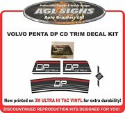 Volvo Penta Dp Cd Trim Stern Drive Reproduction Decal Kit Outdrive