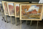 Vintage 4 Coca Cola Tv Trays Folding With Stand