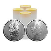 Lot Of 100 - 2021 1 Oz Canadian Maple Leaf .9999 Silver Bu Coin 4 Tubes New