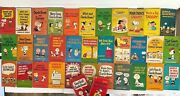 Vintage Lot Of 35 Charlie Brown / Snoopy Books Paperback 60s And 70s Peanuts