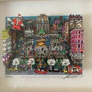 Charles Fazzino Santa Claus Is Coming Midtown 3d Silkscreen With Autograph