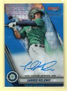 2019 Bowmanand039s Best Blue Refractor Jarred Kelenic /150 Rc On-card Auto Mariners
