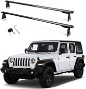 Motorfansclub Cross Bars Roof Rack Fit For Compatible With Jeep Wrangler Baggage