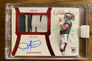 2020 Flawless Football Jalen Hurts Ruby Rpa Number 1 1/15 Rpa Rookie Eagles
