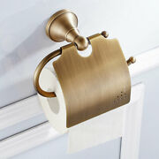 Roll Paper Holder Bathroom Home Toilet Ring Wall Mount Kitchen Antique Brass