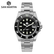 San Martin Diver Water Ghost Luxury Watches Sapphire Crystal Men Automatic Watch