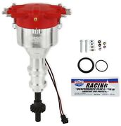 Msd Ignition 85804 Pro-billet Flat-top Distributor Ford 351c-460 Red Crab Cap