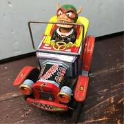 Rare 1960and039s Marx Toys Nutty Mads Drin Car Tin Japan Vintage Figure Retro F/s