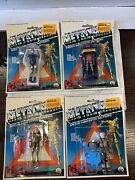 Lot Of 4 Rare Zee Toys Questar Metal Man Action Figures 70and039s 1979