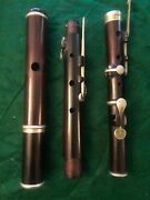 William Hall And S0n 1847 Special 6 Key Flute Cocus-wood Excellent 1st Flute/year
