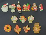 Vintage Jewelry Lot 11 Hallmark Holiday Brooches Christmas Easter Thanksgiving
