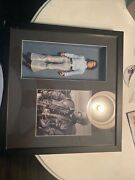 John Travolta Signed 4x6 Autographed Picture Auto And Doll In Shadow Box Farme
