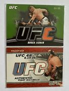 Topps Ufc Brock Lesnar Relic Card And Frank Mir Lot - Fight Used Memorabilia