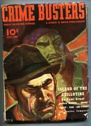 Crime Busters 1939 March-rare Hero Pulp-1st Appearance Of The Wasp-death Angel