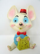 Vintage 1960s Alan Jay Clarolyte Rubber Squeaky Mouse Infant Childrenand039s Toy