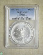 1997-mo Mexico Onza - Pcgs Certified - Ms69 - Libertad Silver