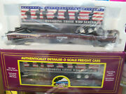 Brand New 2 Pack Mth Premier Norfolk Southern Flat Cars W/ 40' Trailer O Scale