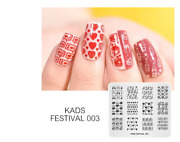 Nail Art Valentines Day Nail Stamping Plates Heart Image Stamp Template Flower