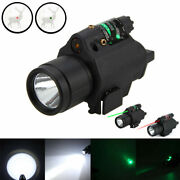 Tactical Red/green Dot Laser Sight Led Flashlight Combo For 20mm Picatinny Rail