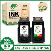 Combo Ink Cartridge For Canon Pg-210xl Cl-211xl Printer Pixma Mp250 Mp270 Mp280