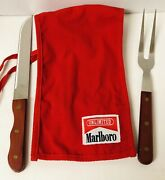 Marlboro Unlimited Bbq Stainless Carving Fork And Knife Set Collectible Gear