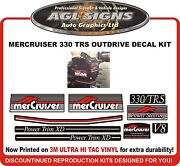 Mercruiser 330 Trs V8 Outdrive 9 Piece Reproduction Decal Kit Mercury 425