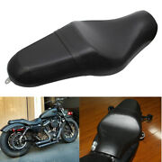 Motorcycle Driver Rear Passenger Two-up Seat For Harley Sportster Xl 883 1200 48