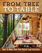 From Tree To Table How To Make Your Own Rustic Log Furniture By Alan...