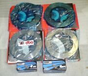 2012-21 Gtr R35 5000 T-slotted Front And Rear Disc Brakes Rotors Hawks Hps Pads