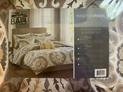 Madison Park 9 Piece Queen Size Bed Comforter Set Bed In A Bag - Taupe Medallion