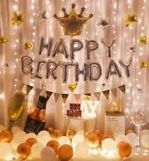 Happy Birthday Party Balloon Whiskey Bottle Crown Anniversary Decor Party Us