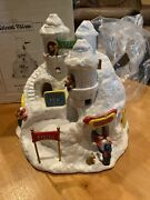 New Lefton Colonial Village Kringleand039s Snow Castle Unopened In Box 12129-98-00