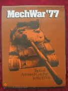 Spi Game Mechwar And03977. Tactical Armored Combat In 1970s. Part Unpunched Complete