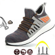 Safety Work Shoes Construction Men Outdoor Steel Toe Cap Puncture Proof Boots