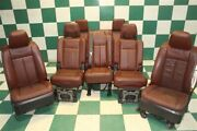 -bag 09-14 Expedition Brown Leather Power Heat Cool Buckets 2nd 3rd Row Seats