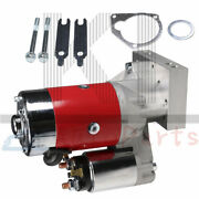 Red 3hp High Torque Mini Starter Small And Big Block For Chevy 153 168 Flywheels