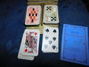 Vintage Boxed Set Of 2 Packs Small Playing Cards Wills 1933 Patience Deco Design