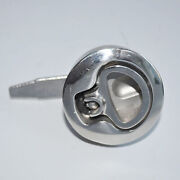 Marine Stainless Steel 2.2inch Round Boat Hatch Lift Ring Handle Lock Latch