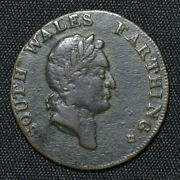 1793 South Wales Dandh 23a Farthing Conder Token Rrr=extremely Rare