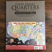 Us State Series Quarter Collection Coin Map Sealed Unused + Michigan Bear 1st Ed