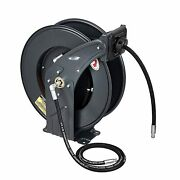 Grease Hose Reel Retractable Heavy Duty 1/4 X 50and039 Premium High