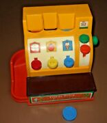 1974 Vintage Fisher-price 926 Mechanical Toy Cash Register Coin