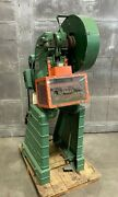 10 Ton Rousselle Model 1a Obi Punch Press 1-1/4 Stroke Shut Height 7 Made In Us