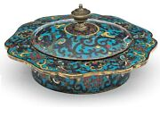 Rare Chinese Ming Dynasty Cloisonne Six-lobed Bowl Zhadou Cover Roger Keverne
