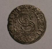 1605 Livonia Russia Schilling Silins Silver Coin Eye Appeal 5377