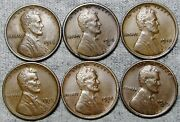 1916 1916-s 1918 1919-s 1928-d 1929-d Lincoln Cent Wheat Penny Nice Lot N163